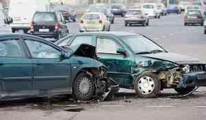 Photo of wreck involving sedans