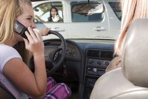 Talking On Phone And Crashing